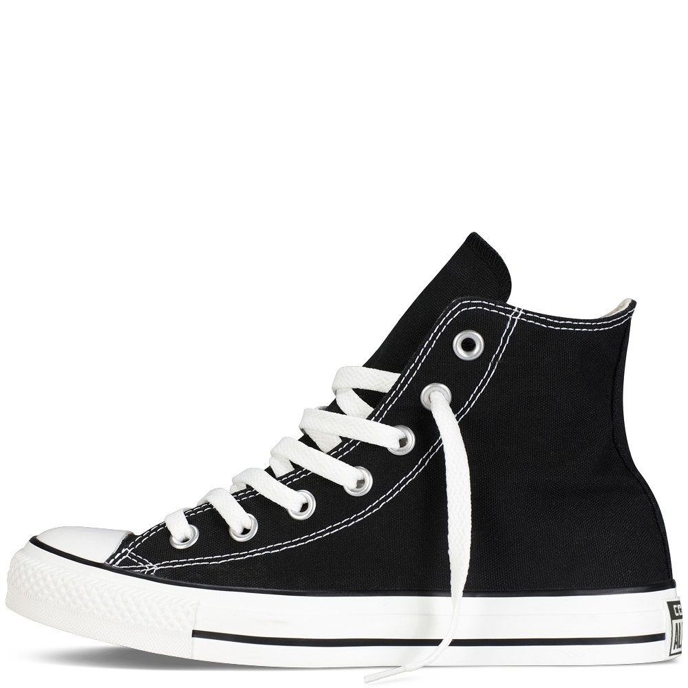 black and white converse high tops