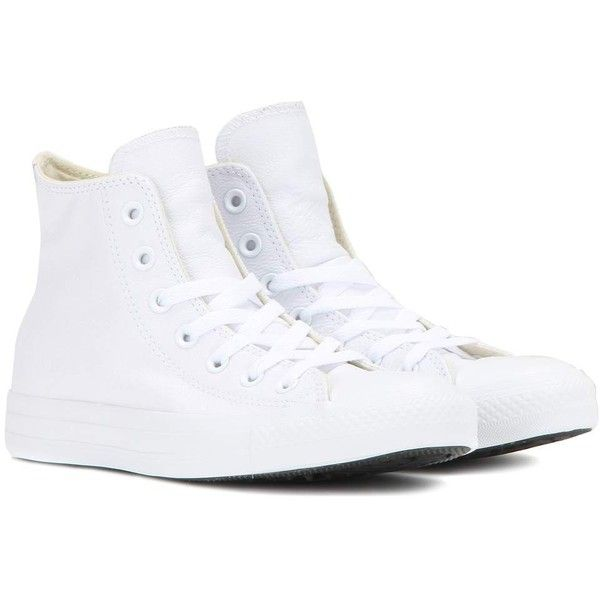 white leather converse high tops