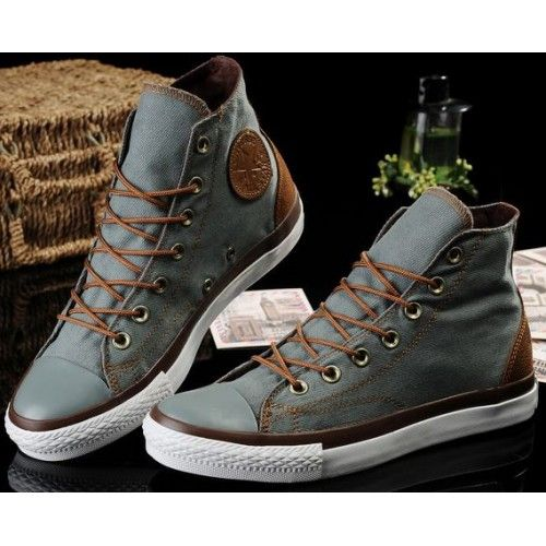 leather converse mens